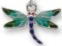 Zarah Co Jewelry 3201Z1P Red-Eyed Damselfly Pendant