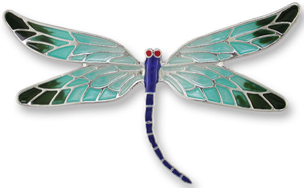 Zarah Co Jewelry 3201Z2P Red-Eyed Damselfly Pin