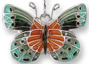 Zarah 3202Z1P Satinwing Butterfly Pendant