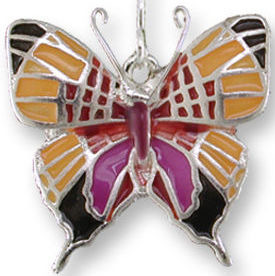 Zarah Co Jewelry 3204Z1P Daggerwing Butterfly Pendant