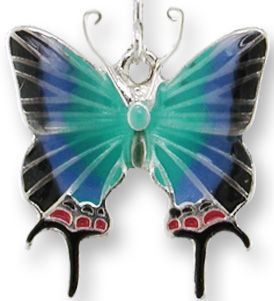 Zarah Co Jewelry 3205Z1P Hewitson's Hairstreak Pendant