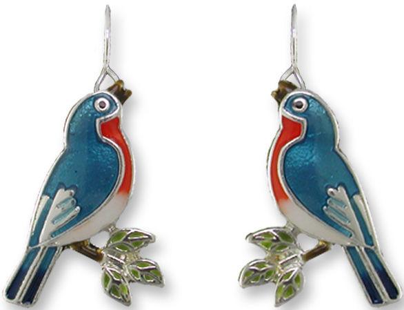 Zarah Co Jewelry 3210Z1 Singing Bluebird Earrings