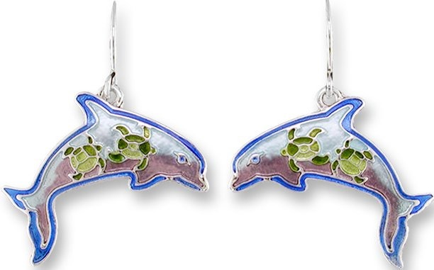 Zarah Co Jewelry 3213Z1 Dolphin Montage Earrings