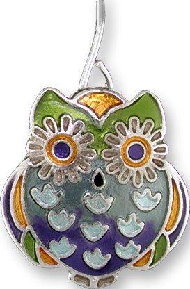 Zarah Co Jewelry 3218Z1P Wide-Eyed Owl Pendant