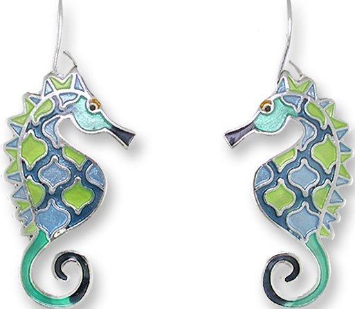 Zarah Co Jewelry 3221Z1 Swirly Seahorse Earrings