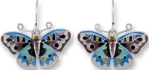 Zarah 3224Z1 Blue Pansy Butterfly Earrings