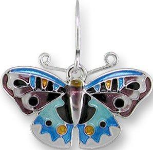 Zarah 3224Z1P Blue Pansy Butterfly Pendant