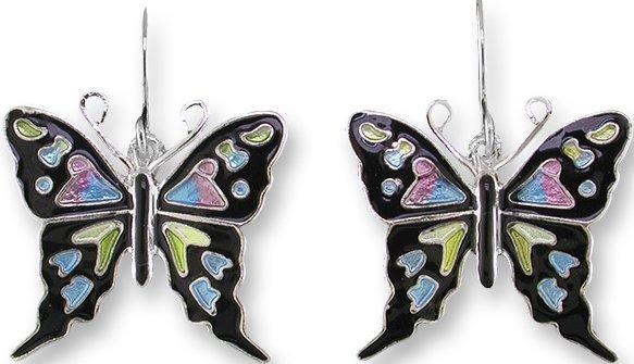 Zarah 3226Z1 Purple Spotted Swallowtail Earrings