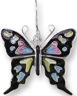 Zarah 3226Z1P Purple Spotted Swallowtail Pendant