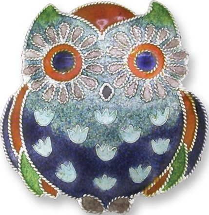 Zarah Co Jewelry 323102 Wide-Eyed Owl Pin