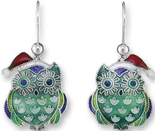 Zarah Co Jewelry 323191 Christmas Hoot Earrings