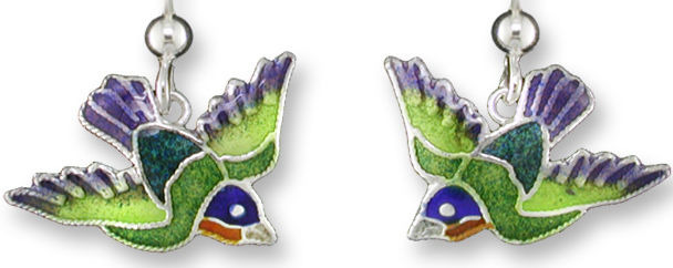 Zarah Co Jewelry 324201 Painted Bunting Earrings