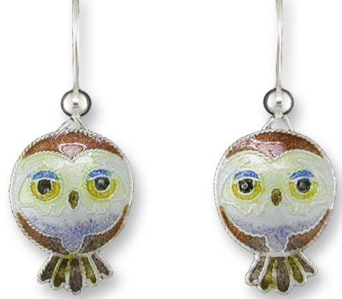 Zarah Co Jewelry 324601 Pygmy Owl Earrings