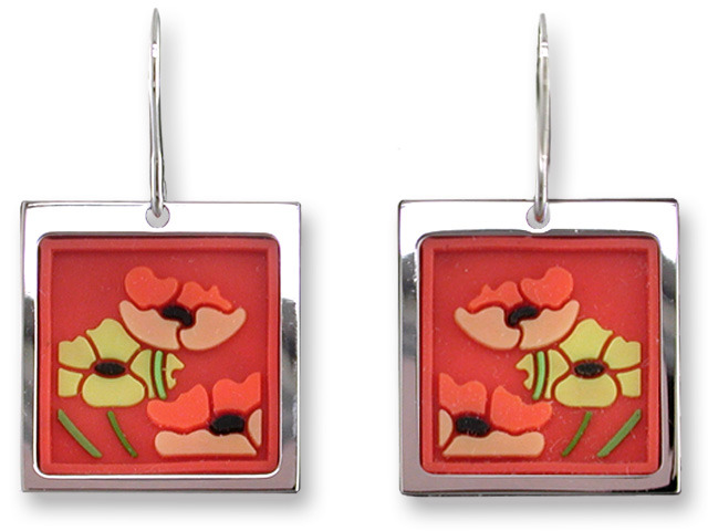 Zarah Co Jewelry 3301V1 Poppy Profusion Earrings