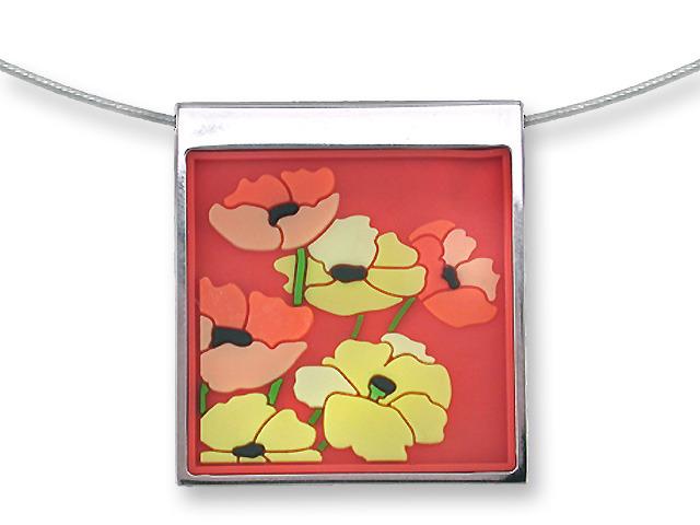Zarah Co Jewelry 3301V7 Poppy Profusion Necklace