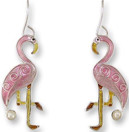 Zarah Co Jewelry 3301Z1 Pearly Flamingo Earrings