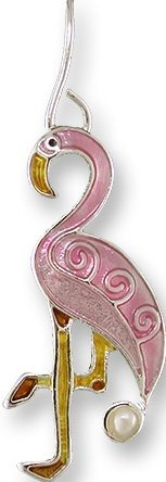 Zarah Co Jewelry 3301Z1P Pearly Flamingo Pendant