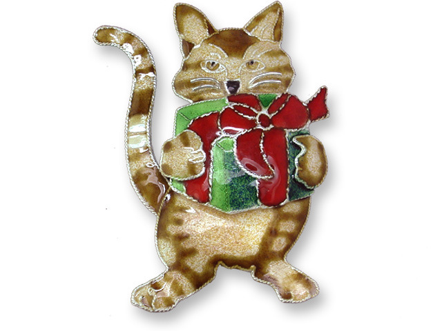 Zarah Co Jewelry 330292 Gifted Kitty Pin Brooch