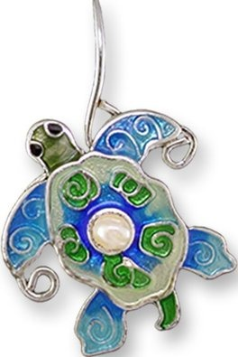 Zarah Co Jewelry 3302Z1P Pearly Turtle Pendant