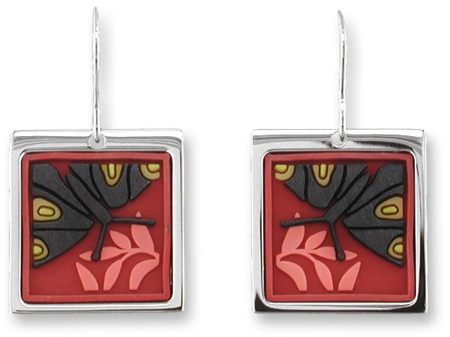 Zarah 3306V1 Butterfly in Black Earrings