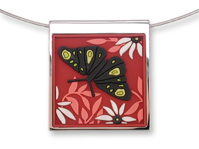 Zarah Co Jewelry 3306V7 Butterfly in Black Necklace