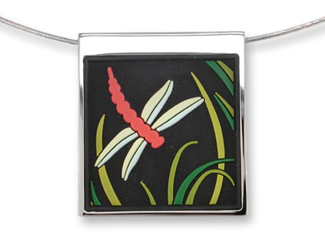 Zarah Co Jewelry 3307V7 Midnight Dragonfly Necklace
