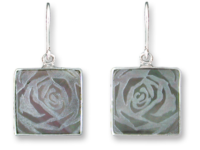 Zarah Co Jewelry 3308S1 Rose Art Earrings