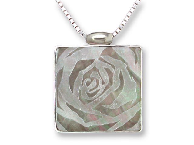 Zarah Co Jewelry 3308S7 Rose Art Necklace
