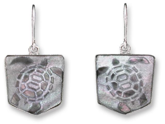 Zarah Co Jewelry 3313S1 Turtle Trek Earrings