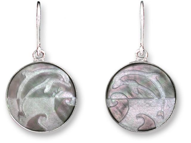 Zarah Co Jewelry 3314S1 Leaping Dolphin Earrings