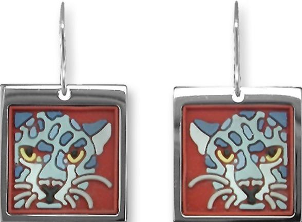 Zarah Co Jewelry 3317V1 Indigo Jaguar Earrings