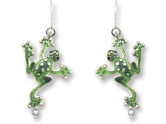 Zarah Co Jewelry 332901 Pearly Frog Earrings