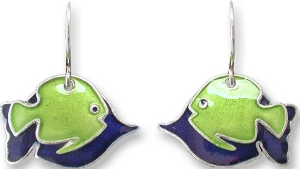 Zarah Co Jewelry 334201 Fish in Silhouette Pierced Earrings