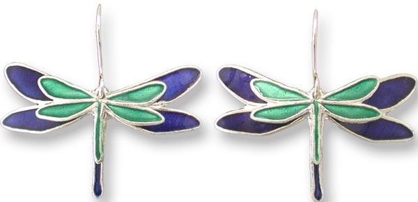 Zarah Co Jewelry 334501 Dragonfly Silhouette Pierced Earrings