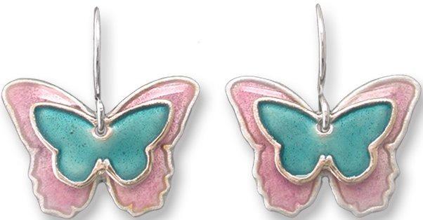 Zarah Co Jewelry 334601 Butterfly Silhouette Pierced Earrings