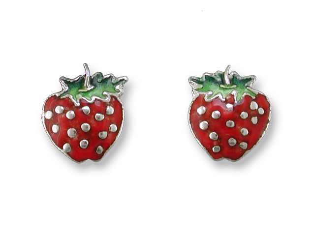 Zarah Co Jewelry 410101 Strawberry Post Earrings