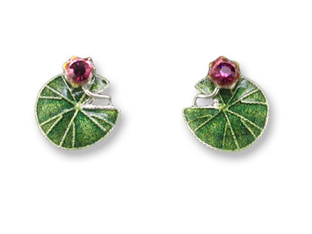 Zarah Co Jewelry 410401 Water Lily Post Earrings