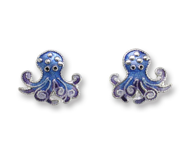 Zarah Co Jewelry 411301 Octopus Post Earrings