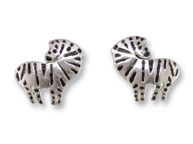 Zarah Co Jewelry 411901 Zebra Post Earrings