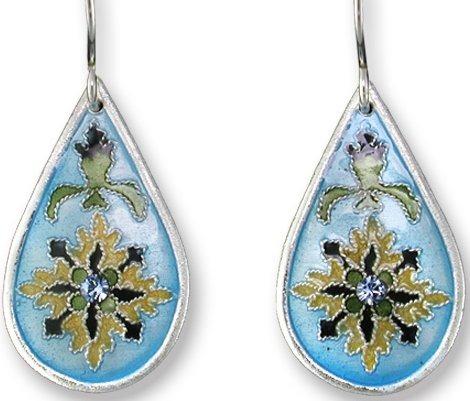 Zarah Co Jewelry 412201 Dew Drop Sapphire Earrings