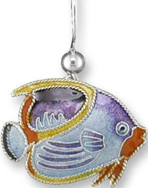 Zarah Co Jewelry 414701P Saddled Butterflyfish Pendant