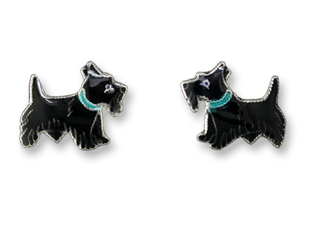 Zarah Co Jewelry 575001 Scottish Terrier Earrings