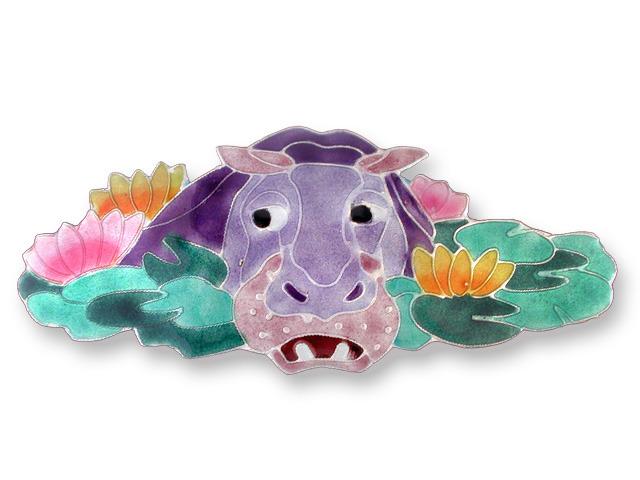 Zarah Co Jewelry 577286 Hippo Barrette Pendant