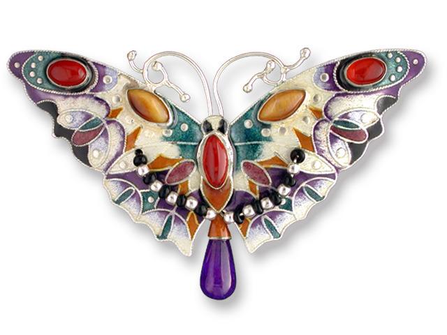 Zarah Co Jewelry 578902 Carnelian Butterfly Pin Brooch