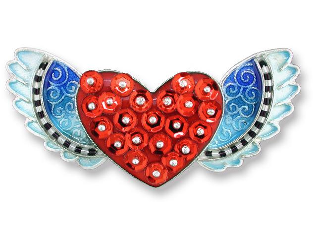 Zarah Co Jewelry 704092 Sequin Heart