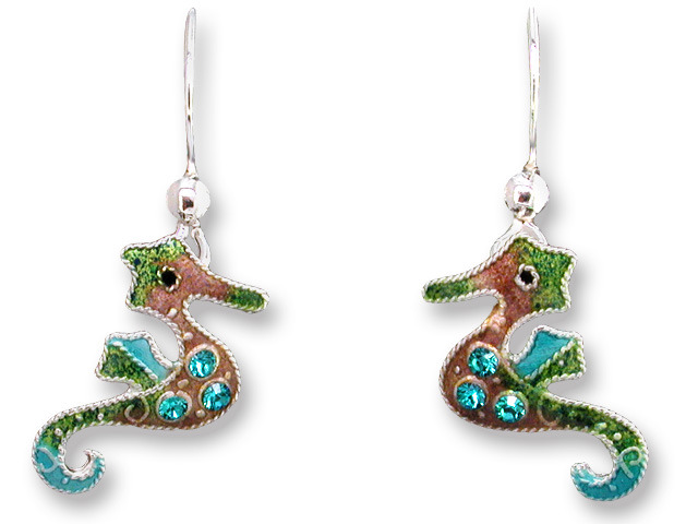 Zarah Co Jewelry 706001 Crystal Seahorse Earrings