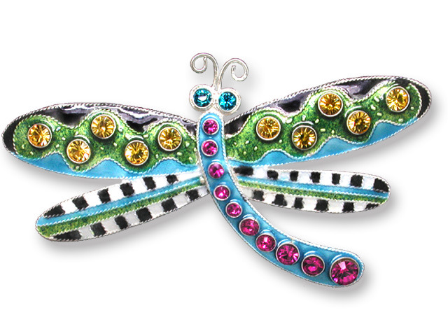 Zarah Co Jewelry 706902 Crystal Dragonfly Pin Brooch