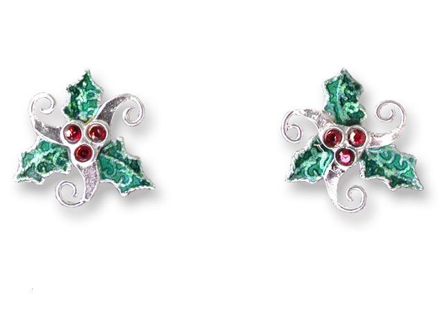 Zarah Co Jewelry 707891 Crystal Holly Earrings