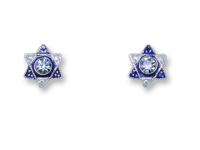 Zarah Co Jewelry 707991 Crystal Star of David Earrings