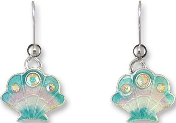 Zarah Co Jewelry 708401 Crystal Scallop Earrings